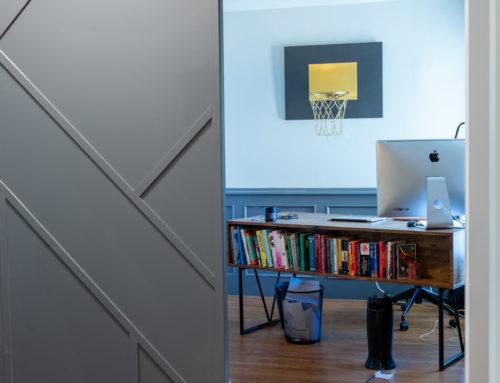 Suite Home Renovations – New Office, Framing, Millworks, Hidden Barndoor